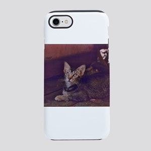 ticked tabby kitten Abyssini iPhone 8/7 Tough Case