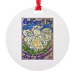 Serenity Prayer Angel Round Ornament