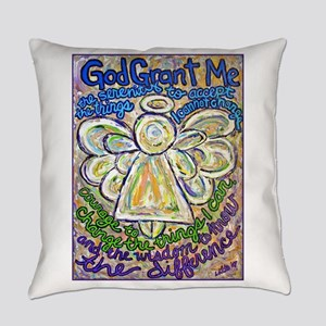 Serenity Prayer Angel Everyday Pillow
