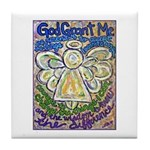 Serenity Prayer Angel Tile Coaster