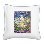 Serenity Prayer Angel Square Canvas Pillow