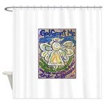 Serenity Prayer Angel Shower Curtain