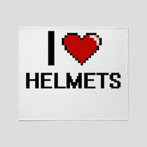 I love Helmets Throw Blanket