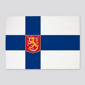 FINLAND 1920 to 1978 5'x7'Area Rug