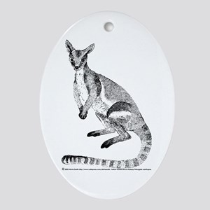 Yellow-footed Rock Wallaby Oval Ornament