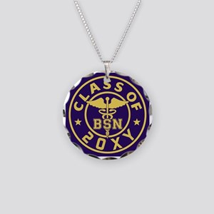 Class of 20?? Nursing Necklace Circle Charm