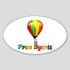 Free Spirit Oval Sticker
