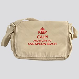 Keep calm and escape to San Simeon B Messenger Bag