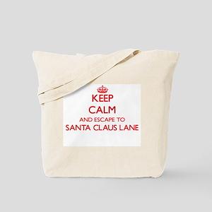 Keep calm and escape to Santa Claus Lane Tote Bag