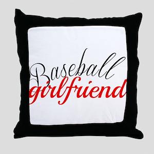 Baseball Girlfriend Throw Pillow