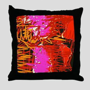 Color Scribbles Throw Pillow