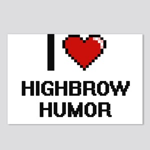 I love Highbrow Humor Postcards (Package of 8)