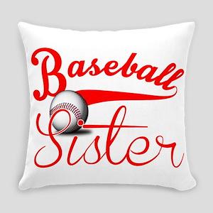 Baseball Sister Everyday Pillow