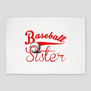 Baseball Sister 5'x7'Area Rug