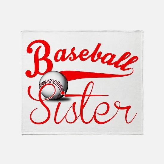 Baseball Sister Throw Blanket