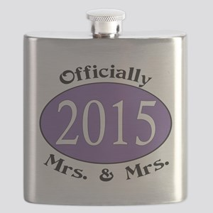 Officially Mrs. & Mrs. 2015 Purple Flask