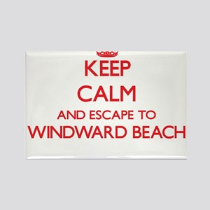 Keep calm and escape to Windward Beach New Magnets