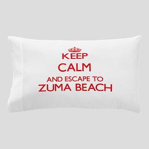 Keep calm and escape to Zuma Beach Cal Pillow Case