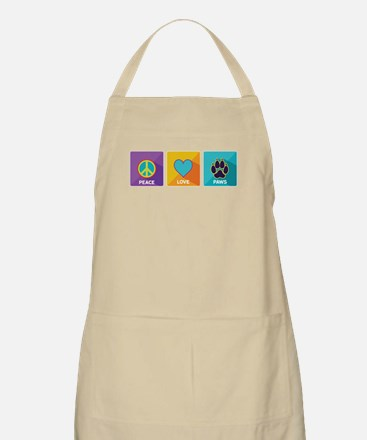 Peace, Love, Paws Apron