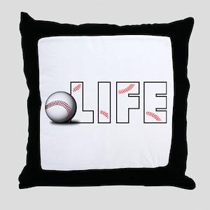 Baseball Life Throw Pillow