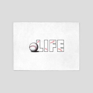 Baseball Life 5'x7'Area Rug