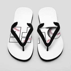 Baseball Life Flip Flops