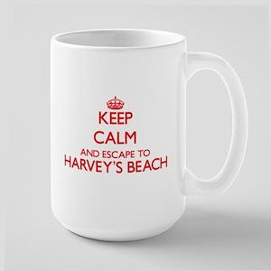 Keep calm and escape to Harvey'S Beach Connec Mugs