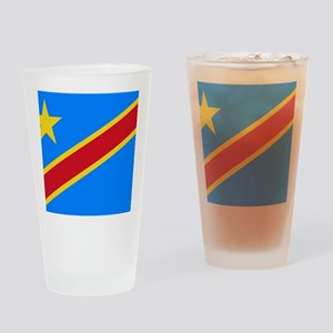 DOMINICAN REPUBLIC OF THE CONGO FLA Drinking Glass