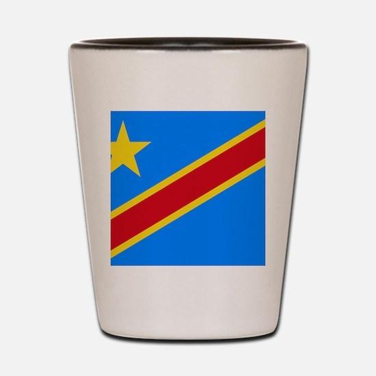DOMINICAN REPUBLIC OF THE CONGO FLAG Shot Glass