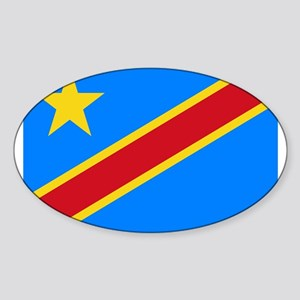 DOMINICAN REPUBLIC OF THE CONGO FLAG Sticker