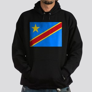 DOMINICAN REPUBLIC OF THE CONGO FLAG Hoodie (dark)