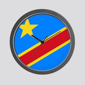 DOMINICAN REPUBLIC OF THE CONGO FLAG Wall Clock