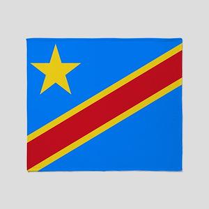 DOMINICAN REPUBLIC OF THE CONGO FLAG Throw Blanket