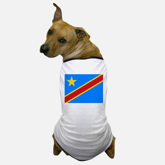 DOMINICAN REPUBLIC OF THE CONGO FLAG Dog T-Shirt