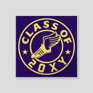 "Class of 20XX Track Square Sticker 3"" x 3"""
