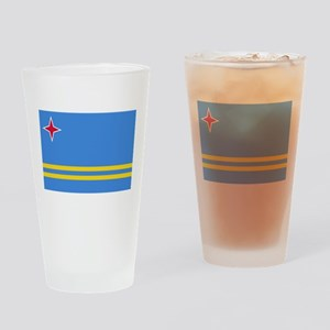 ARUBA FLAG Drinking Glass