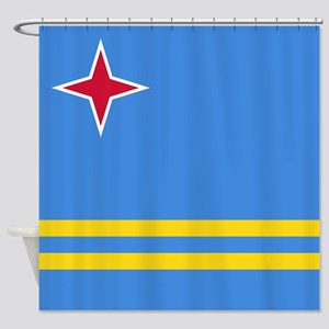 ARUBA FLAG Shower Curtain