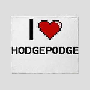I love Hodgepodge Throw Blanket