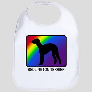 Bedlington Terrier (rainbow) Bib