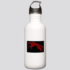 Red Wolf on Black Stainless Water Bottle 1.0L