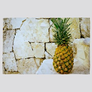 Pineapple Stone Wall Low Poly 4' x 6' Rug