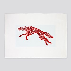 Red Wolf 5'x7'Area Rug