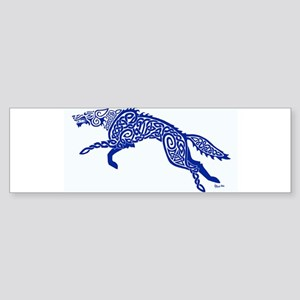 Blue Wolf Bumper Sticker