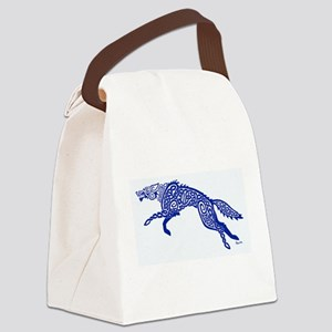 Blue Wolf Canvas Lunch Bag