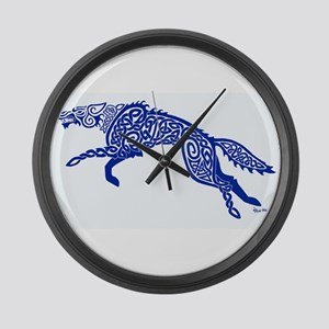 Blue Wolf Large Wall Clock