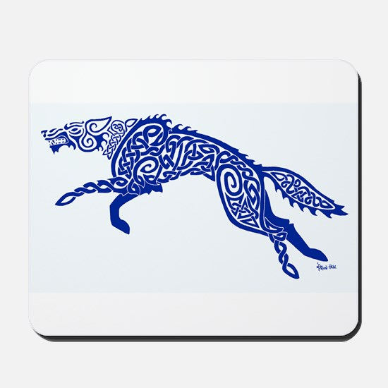 Blue Wolf Mousepad