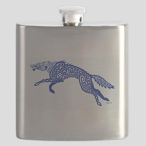 Blue Wolf Flask