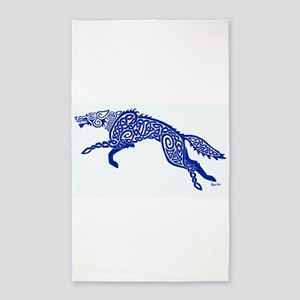 Blue Wolf Area Rug