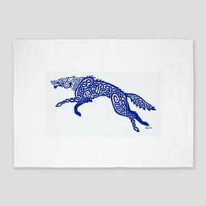 Blue Wolf 5'x7'Area Rug