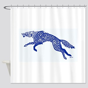 Blue Wolf Shower Curtain
